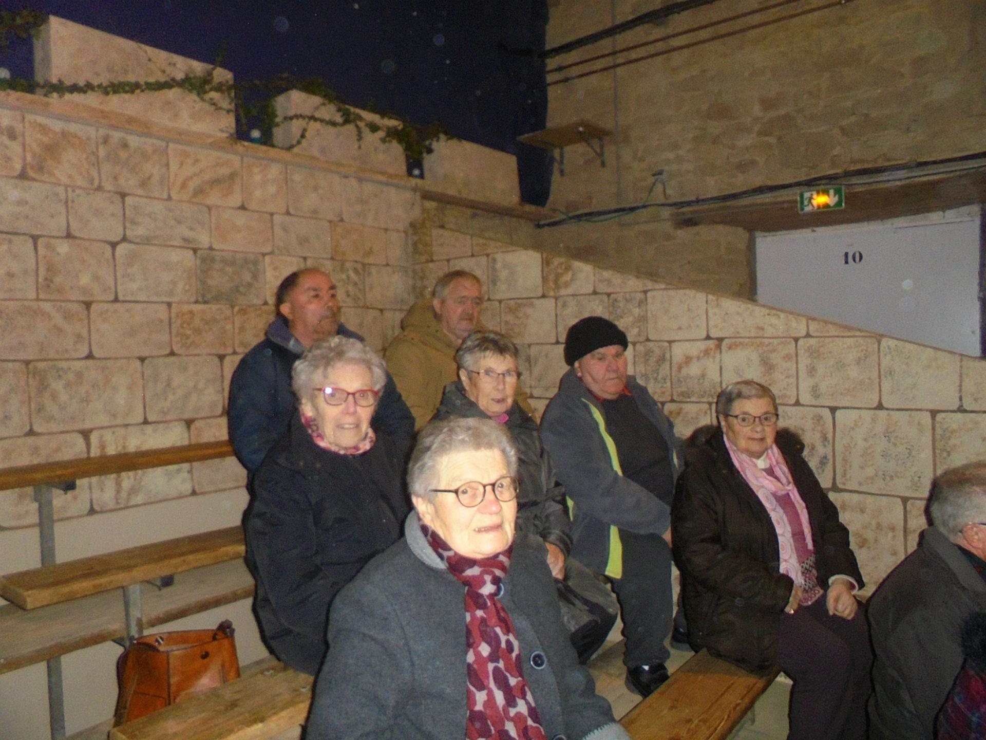 Visite de la crèche vivante à Ste Anne d