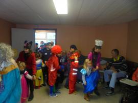 Visite des enfants pour le carnaval - le 5 mars