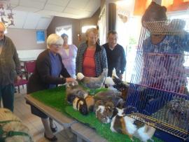Visite de Mme Adelinet et ses animaux - le 13 juin